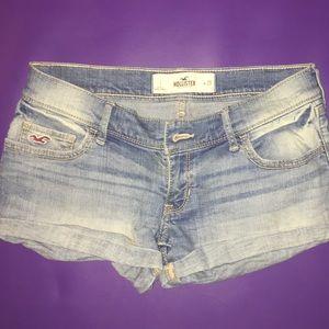 Hollister light denim jean shorts
